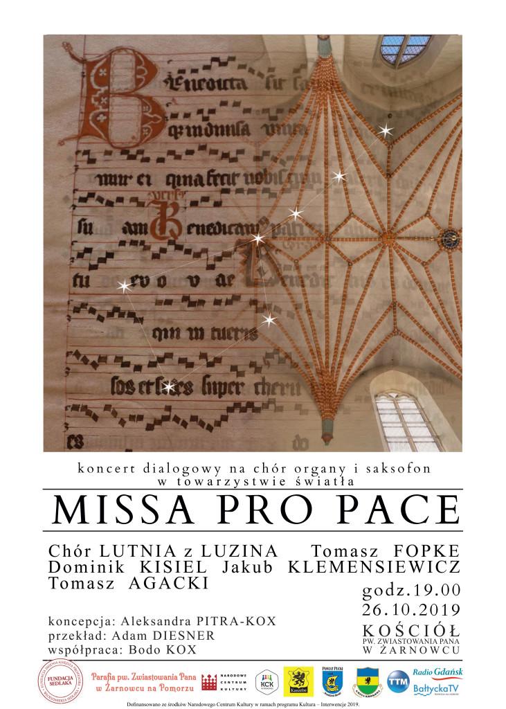 plakat missa pro pace -druk